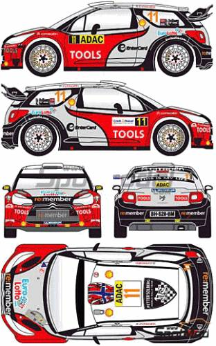 the blueprints cars citroen citroen ds3 wrc 2011. Black Bedroom Furniture Sets. Home Design Ideas
