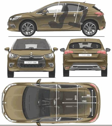 the blueprints cars citroen citroen ds4 2011. Black Bedroom Furniture Sets. Home Design Ideas