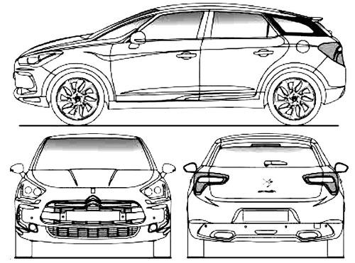 blueprints cars citroen citroen ds5 2013. Black Bedroom Furniture Sets. Home Design Ideas
