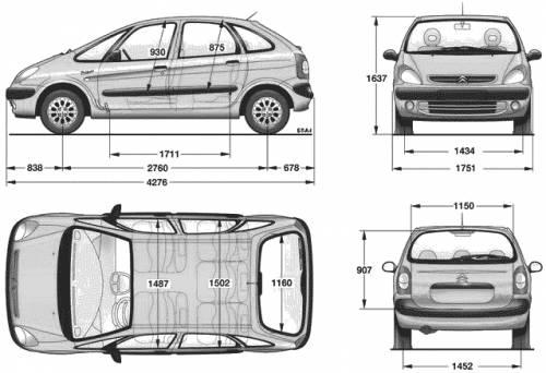 the blueprints cars citroen citroen xsara picasso. Black Bedroom Furniture Sets. Home Design Ideas