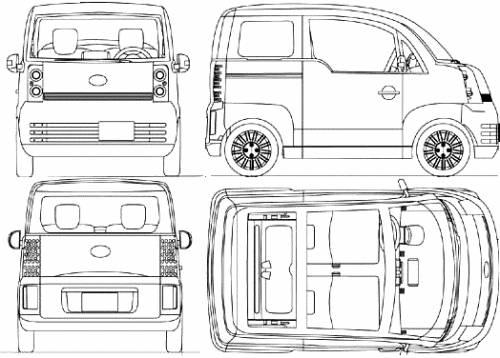Blueprints Cars Daihatsu Daihatsu Ai Concept 2003
