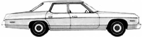 blueprints cars dodge dodge monaco 4 door sedan 1974. Black Bedroom Furniture Sets. Home Design Ideas