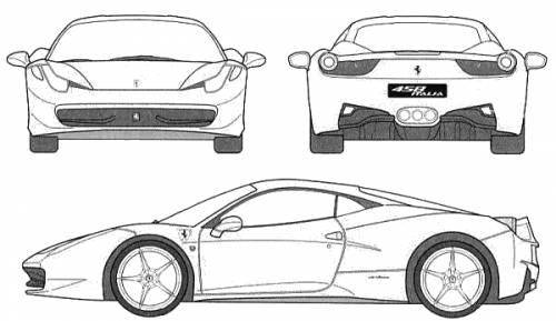 Ferrari 458 italia dimensions