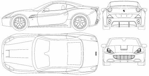 The blueprints blueprints cars ferrari ferrari ferrari california 2009 malvernweather Choice Image