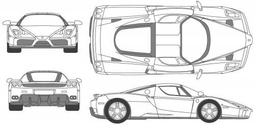 The blueprints blueprints cars ferrari ferrari enzo ferrari enzo f60 fx malvernweather Choice Image