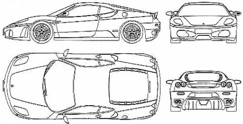 Blueprints cars ferrari ferrari f430 ferrari f430 malvernweather Choice Image