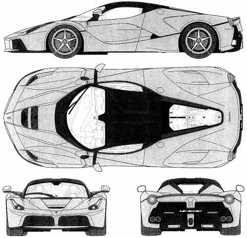 Blueprints cars ferrari laferrari 2013 laferrari 2013 malvernweather Choice Image