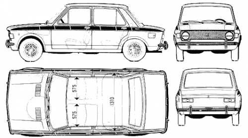 Blueprints cars fiat fiat 128 iava 1100 for Costruttore blueprint gratuito
