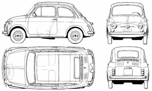 the blueprints voitures fiat fiat 500l. Black Bedroom Furniture Sets. Home Design Ideas