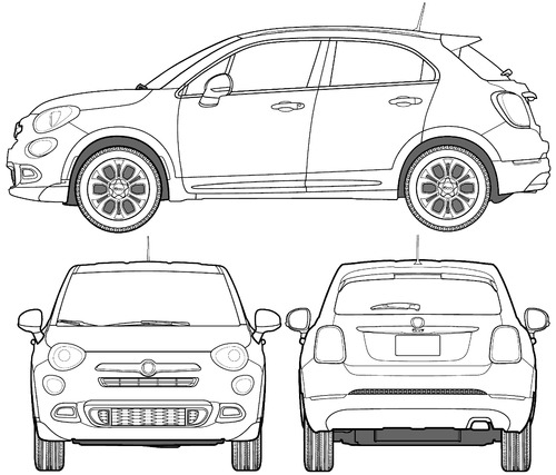 blueprints cars fiat fiat 500x street 2016. Black Bedroom Furniture Sets. Home Design Ideas