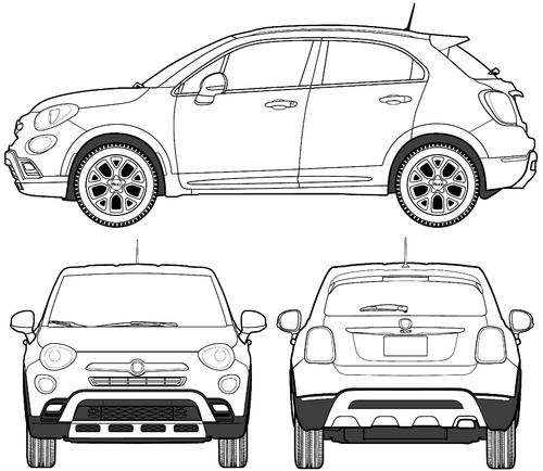blueprints cars fiat fiat 500x trekking 2015. Black Bedroom Furniture Sets. Home Design Ideas