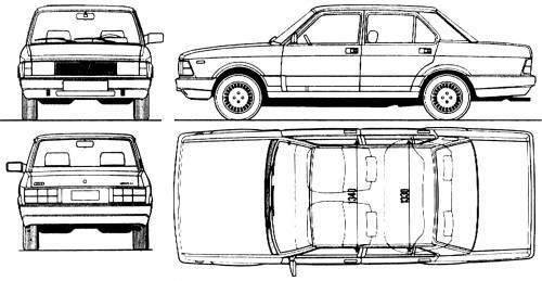Blueprints Cars Fiat Fiat Argenta 1983