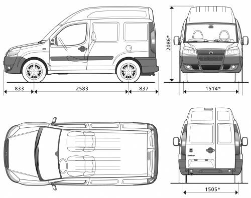 blueprints  u0026gt  cars  u0026gt  fiat  u0026gt  fiat doblo cargo swb high roof