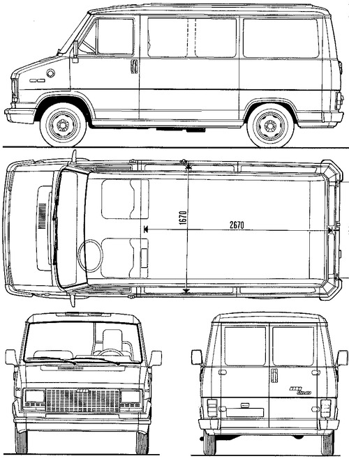 the blueprints cars fiat fiat ducato 1982. Black Bedroom Furniture Sets. Home Design Ideas