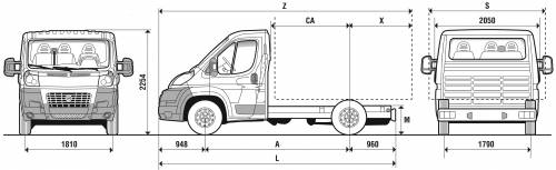 the blueprints cars fiat fiat ducato chassis swb cab 2007. Black Bedroom Furniture Sets. Home Design Ideas