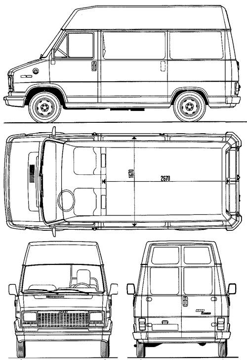 blueprints  u0026gt  cars  u0026gt  fiat  u0026gt  fiat ducato hr  1982