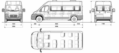 the blueprints cars fiat fiat ducato minibus 13 persons 2007. Black Bedroom Furniture Sets. Home Design Ideas