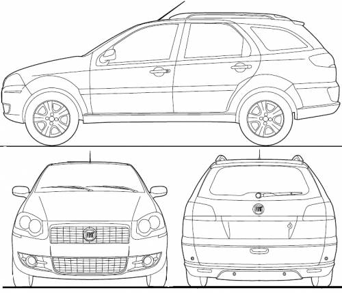 blueprints cars fiat fiat palio weekend br 2012