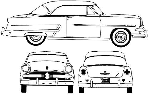 blueprints  u0026gt  cars  u0026gt  ford  u0026gt  ford crestline victoria  1953