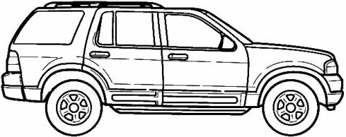 The blueprints cars ford ford - Ford explorer exterior dimensions ...