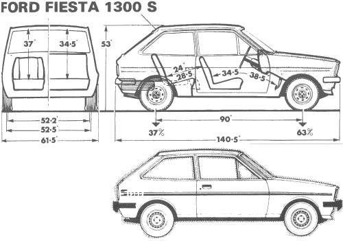 the blueprints cars ford ford fiesta 1300 s. Black Bedroom Furniture Sets. Home Design Ideas