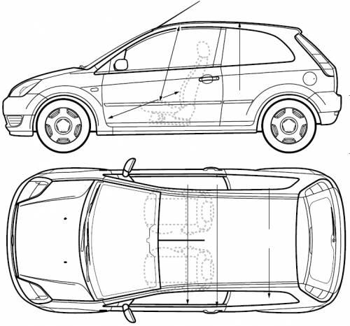 ford fiesta 2005 dimensions auto cars. Black Bedroom Furniture Sets. Home Design Ideas