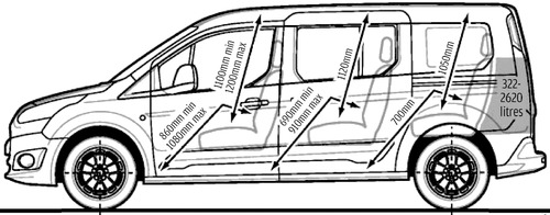 Blueprints Cars Ford Ford Grand Tourneo Connect 2014