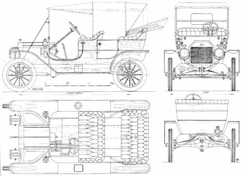 blueprints cars ford ford model t Ford Transit Dimensions ford model t