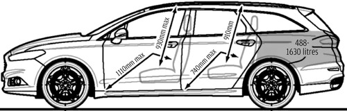 Blueprints Cars Ford Ford Mondeo Estate 2014