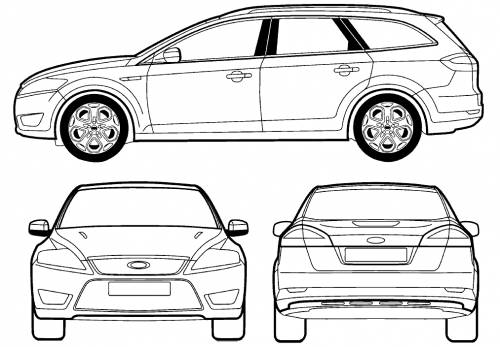 Blueprints Cars Ford Ford Mondeo Iii Estate 2007