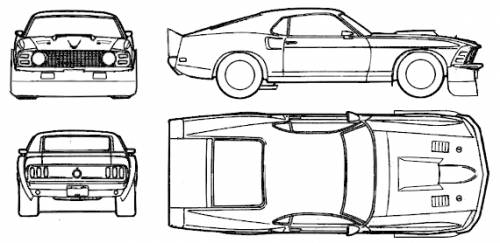 The blueprints blueprints cars ford ford mustang boss ford mustang boss 302 1969 malvernweather Image collections