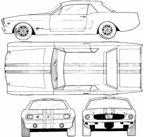 Blueprints cars ford ford mustang coupe 1967 ford mustang coupe 1967 malvernweather Gallery