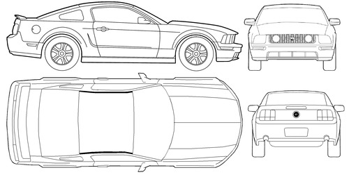 Blueprints cars ford ford mustang gt 2011 ford mustang gt 2011 malvernweather Gallery