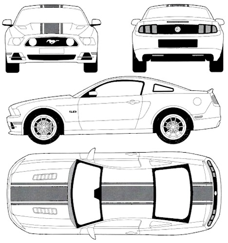 Blueprints cars ford ford mustang gt 2014 ford mustang gt 2014 malvernweather Gallery