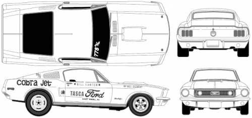 Ford Mustang Gt Cobra Jet