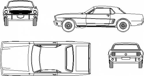 Blueprints cars ford ford mustang hardtop 1965 ford mustang hardtop 1965 malvernweather Choice Image
