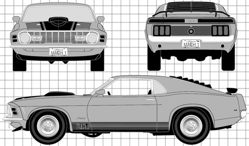 Blueprints > Cars > Ford > Ford Mustang Mach 1 (1970)