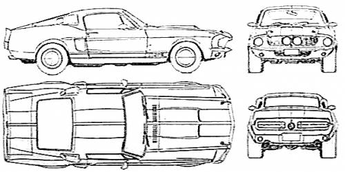 Blueprints cars ford ford mustang shelby gt500 1967 ford mustang shelby gt500 1967 malvernweather Image collections