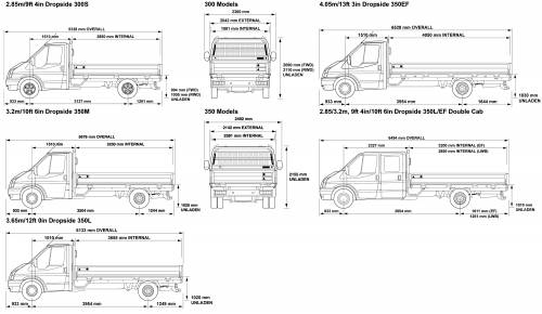 blueprints cars ford ford transit 300 350 2008. Black Bedroom Furniture Sets. Home Design Ideas