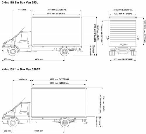 ford transit 350 luton dimensions. Black Bedroom Furniture Sets. Home Design Ideas