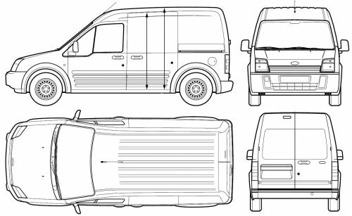 Ford Transit Connect (2005) Original image dimensions: 1431 x 879px