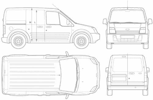 blueprints cars ford ford transit connect short. Black Bedroom Furniture Sets. Home Design Ideas