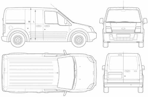 the blueprints cars ford ford transit connect short. Black Bedroom Furniture Sets. Home Design Ideas