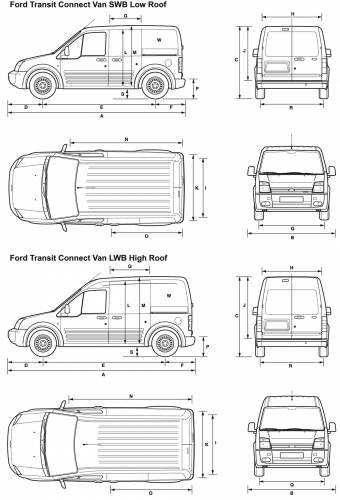 Ford Transit Connect Van (2008) Original image dimensions: 2000 x 2940px