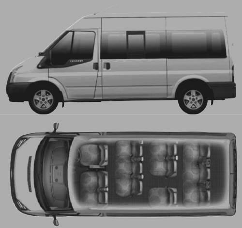 12 Ford Transit 2 2tdci 280s Swb: Ford Transit 12 Seater Minibus Dimensions