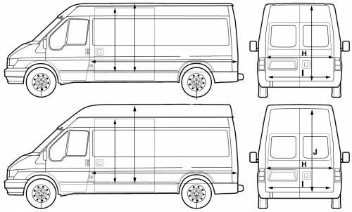 the blueprints cars ford ford transit van lwb 2005. Black Bedroom Furniture Sets. Home Design Ideas