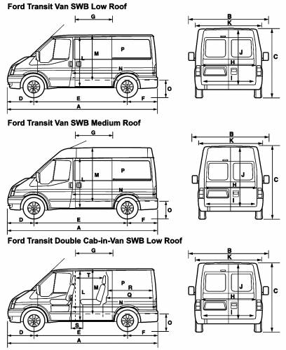 2001 ford transit swb dimensions. Black Bedroom Furniture Sets. Home Design Ideas