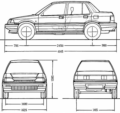 Honda Civic 4 Door Sedan 1985