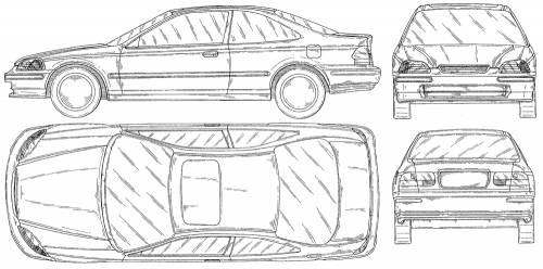 Blueprints > Cars > Honda > Honda Civic Coupe