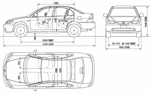 Blueprints > Cars > Honda > Honda Civic Ferio